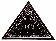 Freemasonic IHS Triangle